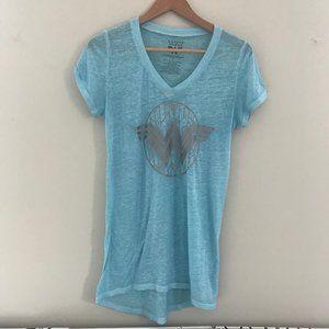 wonder woman shirt - tunic length - size M